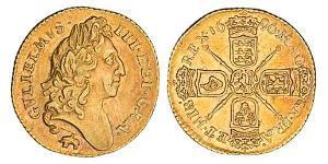 1/2 Guinea Reino de Inglaterra (927-1649,1660-1707) Oro Guillermo III (1650-1702)