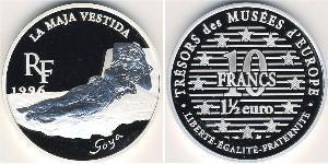 10 Franc / 1.5 Euro Frankreich Silber