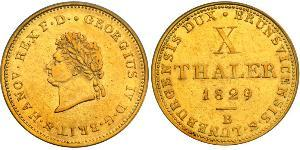 10 Thaler States of Germany Gold Georg IV (1762-1830)