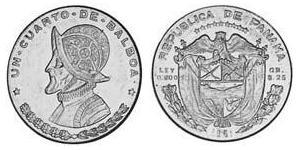 1/4 Balboa Panamá Plata Vasco Núñez de Balboa (1475 – 1519)
