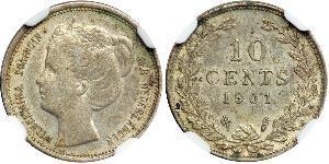 10 Cent Regno dei Paesi Bassi (1815 - )  Guglielmina dei Paesi Bassi(1880 - 1962)