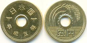 5 Yen Japan Brass