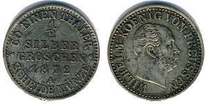 1/2 Grosh Royaume de Prusse (1701-1918) Argent