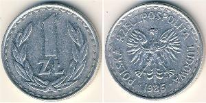 1 Злотый Польская Народная Республика (1952-1990) Алюминий