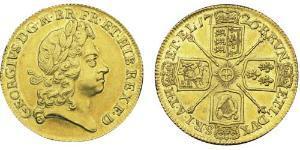 2 Гинея Королевство Великобритания (1707-1801) Золото Георг I (1660-1727)