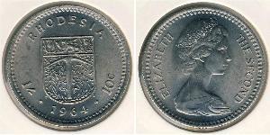 1 Shilling / 10 Cent Southern Rhodesia (1923-1980) Cuivre/Nickel Elizabeth II (1926-)