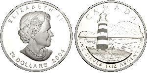20 Dollar 巴西 銀 伊丽莎白二世 (1926-)