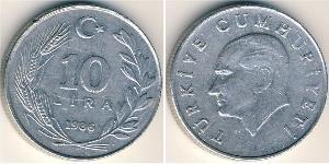 10 Lira Turkey (1923 - ) Aluminium