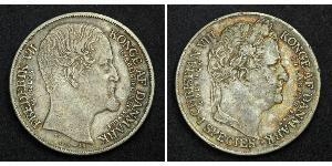 1 Daler 丹麦 銀