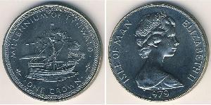 1 Крона Острів Мен Нікель/Мідь Єлизавета II (1926-)