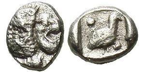 Tetartemorion Antikes Griechenland (1100BC-330) Silber