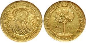 2 Escudo Zentralamerikanische Konföderation (1823 - 1838) / Costa Rica Gold