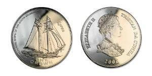 1 Corona Tristan da Cunha  Elisabetta II (1926-)