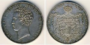 2 Талер Анхальт (1806 - 1918) Срібло Леопольд IV Фрідріх фон Ангальт (1794 – 1871)