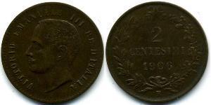 2 Centesimo Kingdom of Italy (1861-1946) Cobre