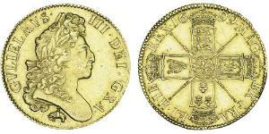 5 Guinea Kingdom of England (927-1649,1660-1707) Gold William III (1650-1702)