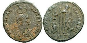1 Follis /  AE2 Imperio romano de Occidente (285-476) Bronce Arcadio (377-408)