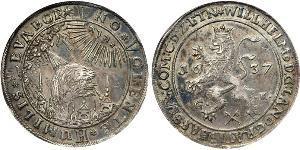 1 Thaler Stati federali della Germania Argento Wilhelm V (1548 - 1626)