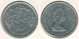 10 Penny Saint Helena (1981 - ) Copper/Nickel Elizabeth II (1926-)