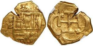 2 Escudo Habsburg Spain (1506 - 1700) Gold Philip III of Spain (1578-1621)