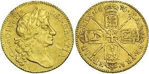 1 Guinea Kingdom of England (927-1649,1660-1707) Gold Charles II (1630-1685)