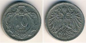 10 Heller Imperio austrohúngaro (1867-1918) Níquel/Cobre