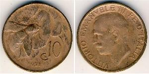 10 Centesimo Kingdom of Italy (1861-1946) Copper Victor Emmanuel III of Italy (1869 - 1947)