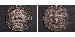 1000 Reis Empire du Brésil (1822-1889) Argent