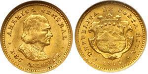2 Колон Коста-Рика Золото Христофор Колумб (1451 - 1506)