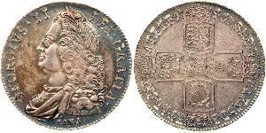 1 Crown Reino de Gran Bretaña (1707-1801) Plata Jorge II (1683-1760)