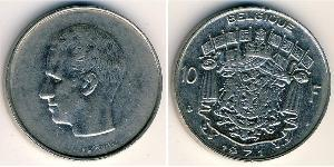 10 Franc Bélgica Níquel/Cobre