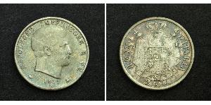 2 Lira Kingdom of Italy (Napoleonic) (1805–1814) Silver Napoleon (1769 - 1821)