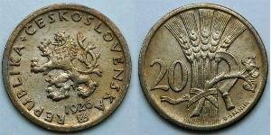 20 Krone Czechoslovakia (1918-1992)