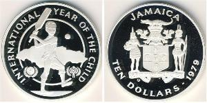 10 Долар Ямайка (1962 - ) Срібло