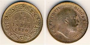 1/2 Paisa Britisch-Indien (1858-1947) Bronze Eduard VIII (1894-1972)
