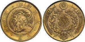 5 Yen Empire of Japan (1868-1947) Gold Meiji the Great (1852 - 1912)