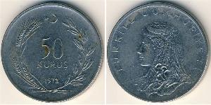50 Kurush Türkei (1923 - ) Kupfer/Nickel
