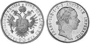 20 Крейцер Австрийская империя (1804-1867) Серебро