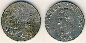 50 Centimo Philippines Copper/Nickel
