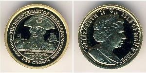 1/25 Крона Остров Мэн Золото Елизавета II (1926-)