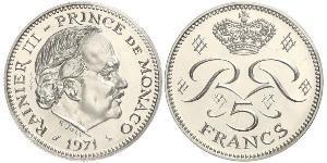 5 Franc Monaco  Rainier III