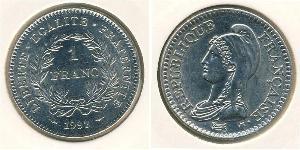 1 Franc Quinta Repubblica francese (1958 - ) Nichel