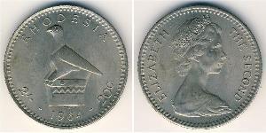 20 Цент / 2 Шилінг Родезія (1965 - 1979) Нікель/Мідь