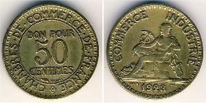 50 Centime 法兰西第三共和国 (1870 - 1940) 青铜/铝