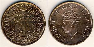 1/4 Anna Britisch-Indien (1858-1947) Bronze