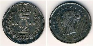 2 Penny Vereinigtes Königreich Silber