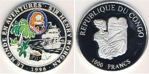 1000 Franc Democratic Republic of the Congo Silver