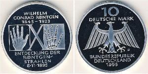 10 Mark Alemania Plata
