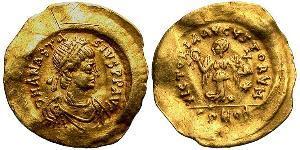 1 Tremissis Empire byzantin (330-1453) Or Anastase I (430-518)