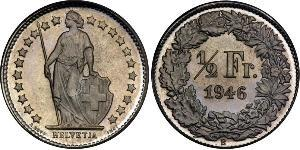 1/2 Franc Switzerland Copper/Nickel